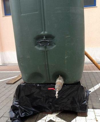 Depósito de agua situado en el barrio de La Vera.