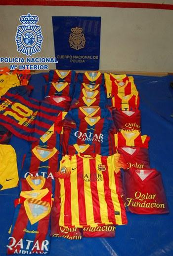 falsificación camisetas FC Barcelona sur Tenerife