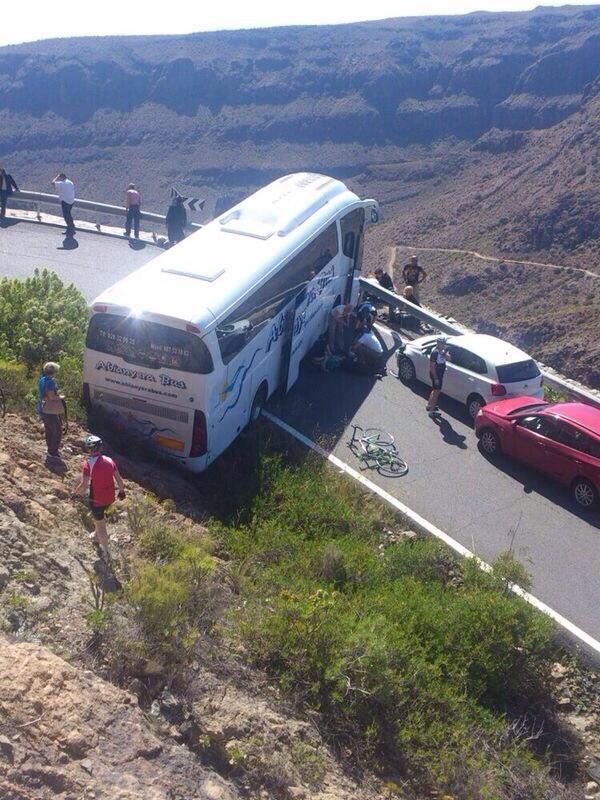 Un ciudadano austríaco ha perdido la vida en el accidente de guagua registrado este mediodía en Gran Canaria