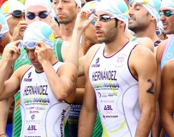 Ricardo y Vicente Hernández, durante una prueba. | DA