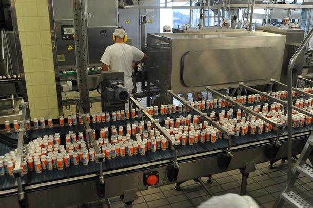 Fábrica Danone Tenerife cadena fabricación actimel