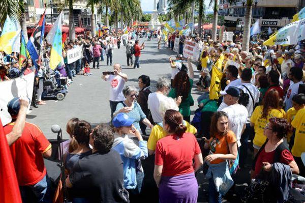 Marcha por la dignidad hoy en Santa Cruz