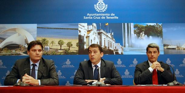 José Ángel Martín (i), José Manuel Bermúdez y Alberto Bernabé,
