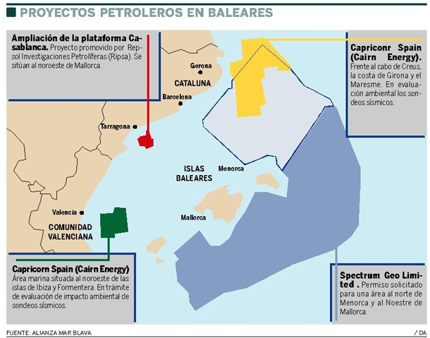 sondeos petróleo Baleares
