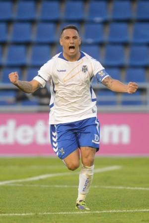 Suso celebra con rabia su gol al Mirandés hace varias semanas.   S. M.