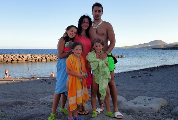victima 11-M Mónica Sánchez y familia en Tenerife