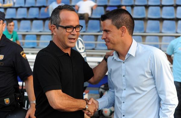 Cervera y Lobera se volverán a encontrar el 10 de mayo en el estadio de Gran Canaria. / SERGIO MÉNDEZ