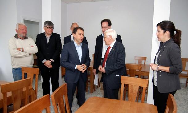Inauguración del Comedor social de Mensajeros de la Paz en Añaza.