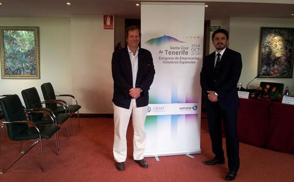 Ramón Estalella y Jorge Marichal, durante la presentación del congreso, celebrada en el hotel Botánico. | DA