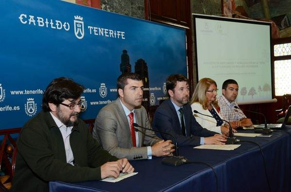 Durban, Domínguez, Alonso, Mora y Noriega, ayer en la presentación de los trabajos. | DA