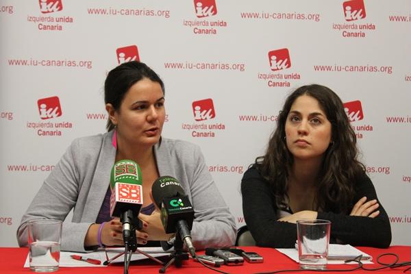 Elvira Hernández Toledo y Lara Hernández García, candidatas de IU al Parlamento Europeo. | DA