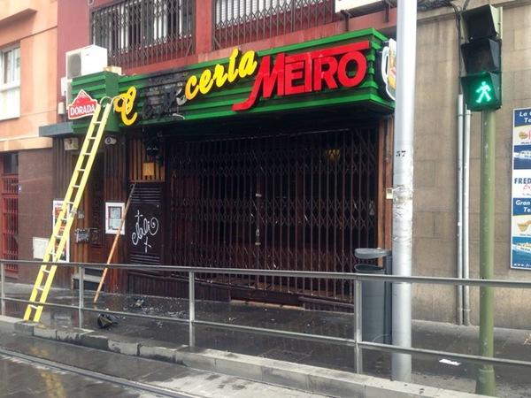 Imagen de la fachada de la cervecería afectada. | SARAY ENCINOSO