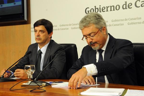 Javier González Ortiz y Martín Marrero, en una imagen de archivo. / DA
