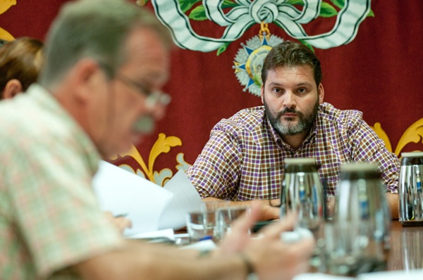 José Ángel Martín, en una comisión de control anterior. | DA