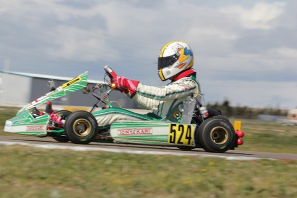 El piloto lanzaroteño  de Kart José María Reina