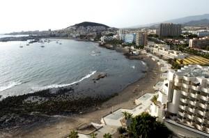 La regeneración de la playa de Los Tarajales será un revulsivo para el núcleo de Los Cristianos. / DA
