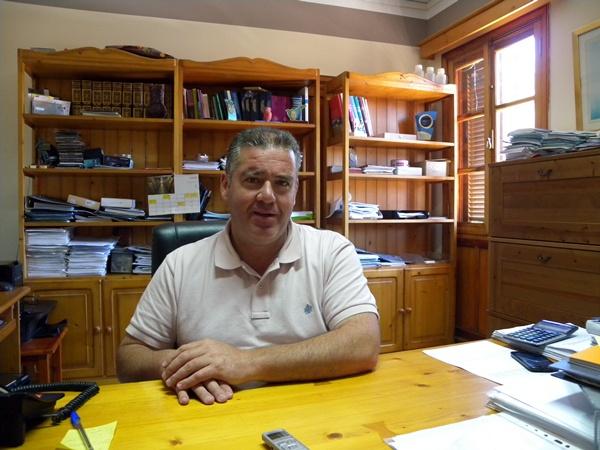 Manuel Fumero, alcalde de Vilaflor. / J. L. C.