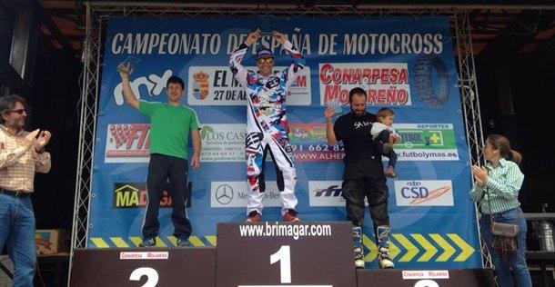 Motocross El Molar podium MXMaster 35