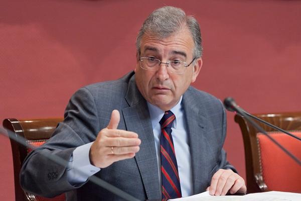 Rafael Díaz, ayer, durante la comisión parlamentaria. | DA