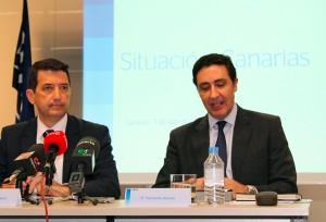 Rafael Doménech (izq.), economista jefe de BBVA Research, y Fernando Alonso, director territorial. / DA