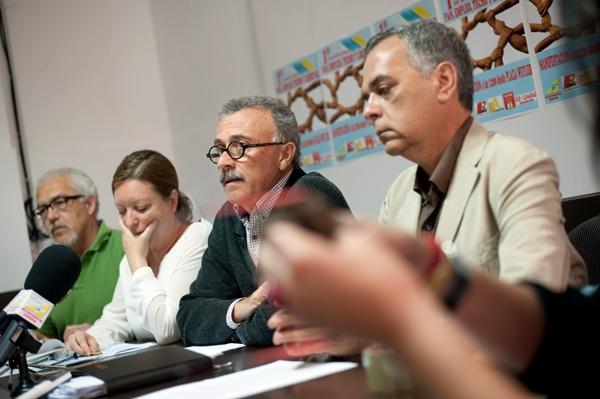 Representantes de los sindicatos que en el Primero de Mayo se desmarcan de UGT y CC.OO. / FRAN PALLERO