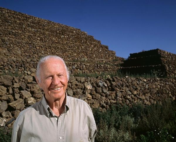 Thor Heyerdahl fue quien ideó el parque Pirámides de Güímar.   DA