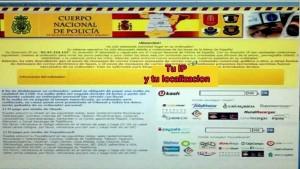 Imagen de la falsa página policial en español que pide 100 euros para desbloquear el ordenador. / DA