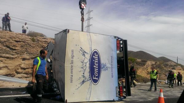 Uno de los camiones implicados.   Dani Martín