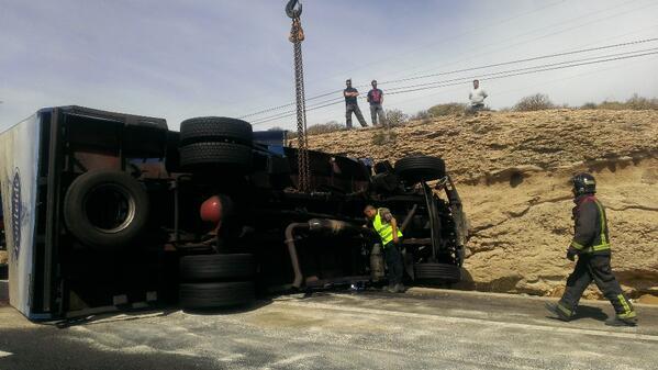 Uno de los camiones implicados. | Dani Martín