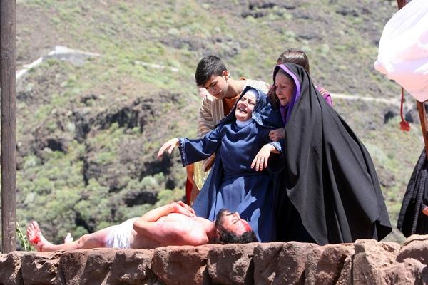 La representación de La Pasión es una de las citas más importantes de la Semana Santa tinerfeña. / DA