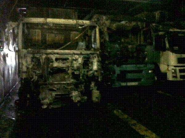 Interior de la bodega donde se produjo el incendio. | LOS JARDINEROS