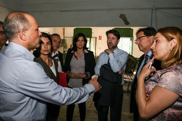 Carlos Alonso estuvo el lunes de visita en Güímar. / DA