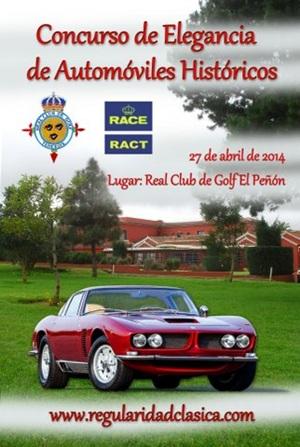 Cartel del Concurso de Elegancia de Automóviles Históricos, antiguos y clásicos
