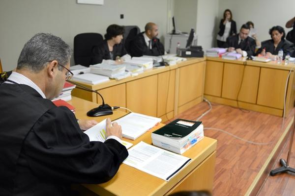 Momento de la vista previa del juicio civil, celebrada ayer. / SERGIO MÉNDEZ