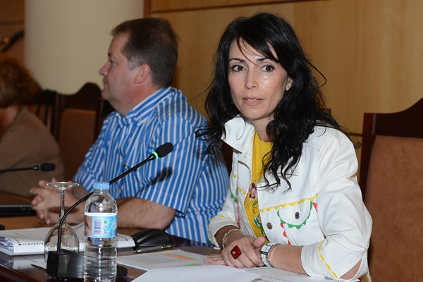 Elena Peraza, Defensora del Ciudadano, fue la única en aglutinar los elogios del Pleno por su labor. | S. MÉNDEZ