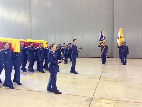 entierro militares fallecidos en accidente de helicóptero