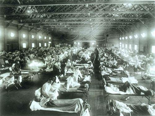 Pacientes de la gripe española. | WIKIPEDIA