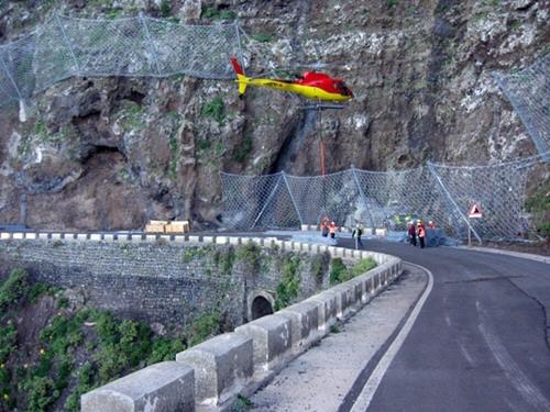 helicóptero carretera Teno