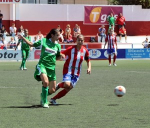 María José durante el partido jugado este pasado domingo. /DA