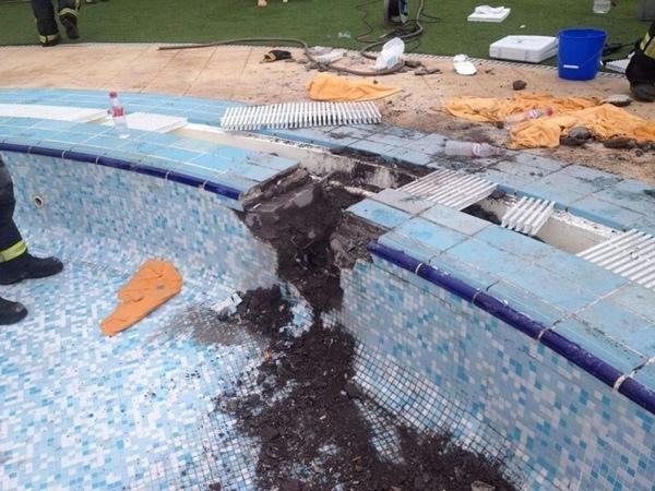Estado en el que quedó la piscina después de ser liberado. | EP