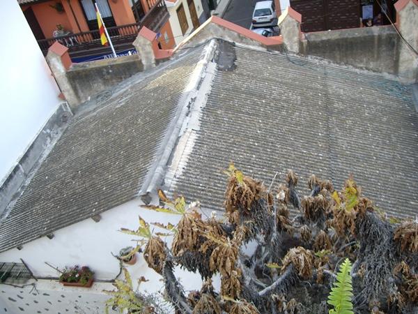 El tejado era de planchas de uralita. | DA