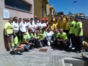 En la actividad participaron ochenta voluntarios convocados por el Cabildo y Ayuntamiento. / DA
