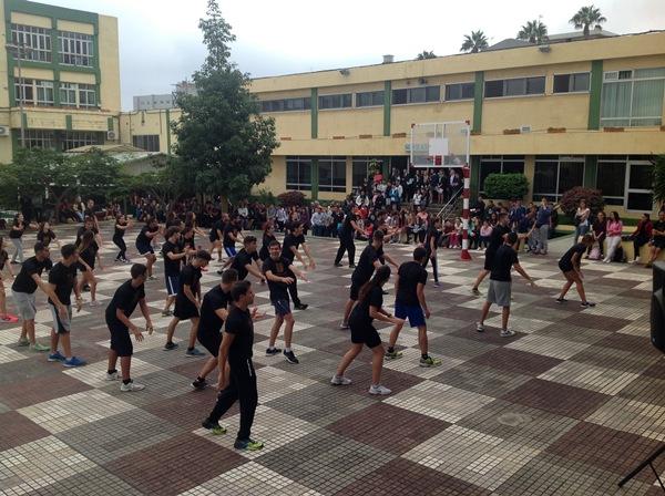 Actividad realizada en diciembre con alumnos de Actividades Físicas y Deportivas. / DA
