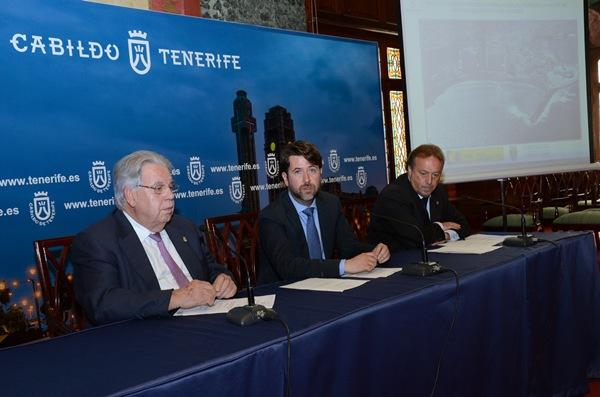 Marcos Brito, Carlos Alonso y Sebastián Ledesma anunciaron ayer el compromiso del Gobierno central. / DA