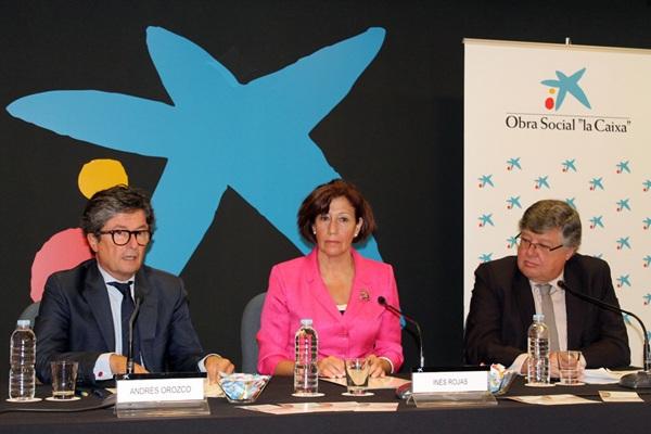 Andrés Orozco, Inés Rojas y Alberto Delgado, durante la presentación de la convocatoria de ayudas. / DA