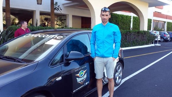 La Palma es durante estos días, un hervidero de corredores, como Luis Alberto Hernando, quien opta a la corona masculina. / DA