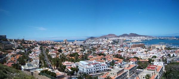 Vista de la capital grancanaria. | DA