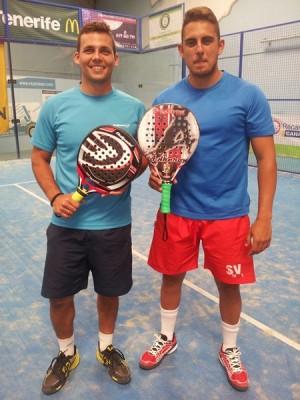 Octavio González y Javier Eloy sudaron sangre para vencer ayer. | J.S.S.