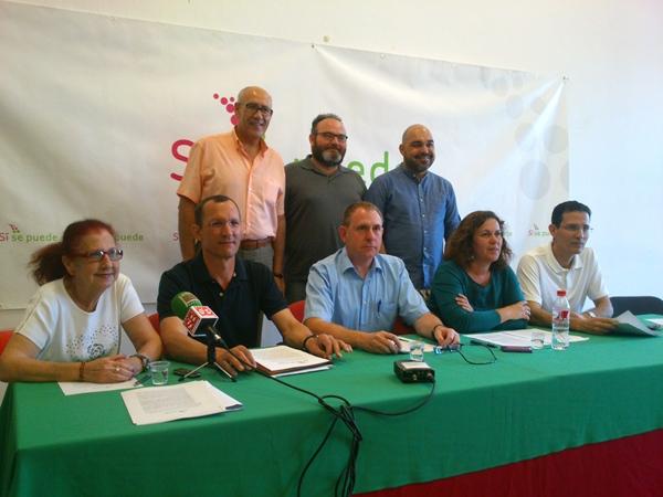 Los coordinadores de Si Se Puede, ayer en rueda de prensa.   DA