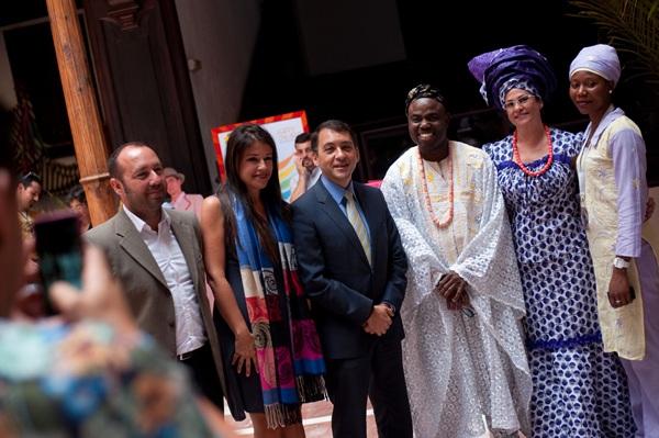 La primera semana Cultural Tajaraste se presentó ayer en el patio central del palacio de Carta. / FRAN PALLERO